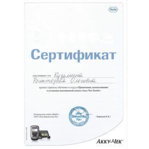 Сертификаты Кузьмина В.О.-1